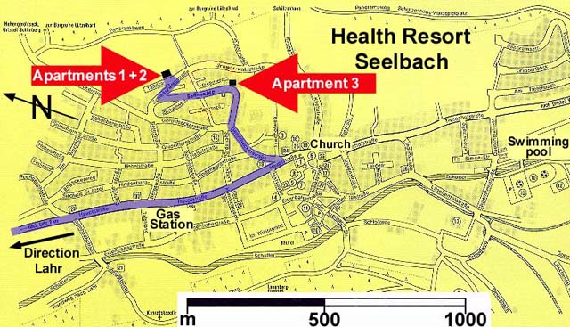 City map of Seelbach 